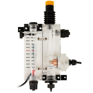 2-х камерная ячейка с держателями датчиков Seko. Расходомер + pH, 12 мм + амперометрический датчик хлора (датчик включен) арт. 9900103050