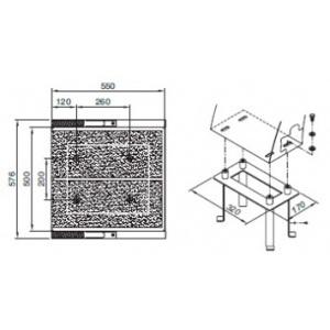 Анкер AstralPool для крепления стартовых тумб с прямоугольным основанием из AISI-316 арт. 54461