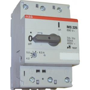 Автомат с регулировкой тепловой защиты ABB MS-225-6
