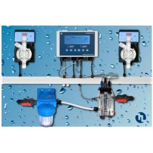 Автоматическая станция дозирования и контроля Etatron Pool Guard 7 pH/Cl/T Panel (SCLO3 HYCHLOR), 5 л/ч, 7 бар, 0-20 ppm арт. QPA7510138ER