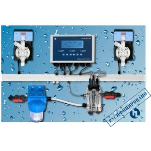 Автоматическая станция дозирования и контроля Etatron Pool Top Guard PH/RX/CL/T Panel (SCL), 5 л/ч, 7 бар, 0-2 ppm арт. QPA8M11338ER