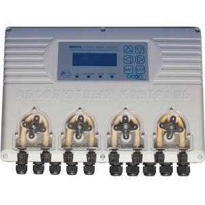 Автоматическая станция контроля, дозирования и управления бассейном Acon Dominator (4 универсальных насоса), датчики Rx и pH в комплекте