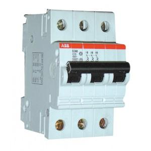 Автоматический выключатель ABB С 10 А с 3 полюсами