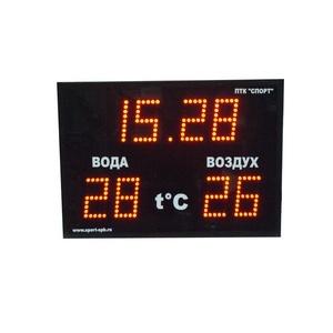 Часы-термометр ПТК-Спорт CT1.25-2t, высота цифры 250 мм арт. 017-0827
