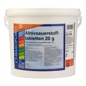 Chemoform Аквабланк О2 в таблетках (20 г), активный кислород для дезинфекции воды в бассейнах, 5 кг арт. 0595 005