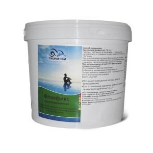 Chemoform Флокфикс гранулированный. Флокулянт для поглощения и удаления взвешенных частиц в воде бассейна