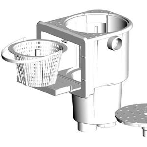 Декоративная рамка Peraqua из нержавеющей стали для скиммера Deluxe