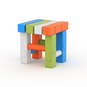 Детский игровой табурет ПТК Спорт (жесткий ПВХ) для детей 100-115 см. Цвет: мульти арт. 011-2753