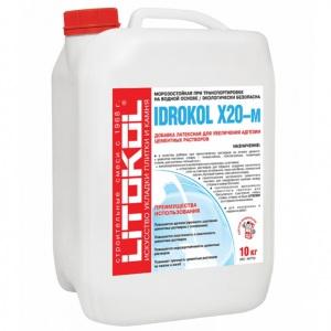 Добавка к штукатурке латексная Litokol Idrokol X20-M для увеличения адгезии (канистра)