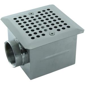 Донный слив Аквасектор квадратный 150х150 мм