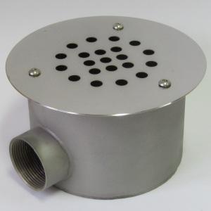 Донный слив Акватехника D=155 мм 1 1/2 ВР (плитка) арт. АТ 04.09
