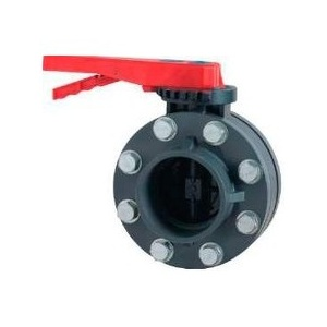 Дроссельная заслонка с комплектом фланцев ПВХ Pool King 1,6 МПа d_140 мм /UBVF01140/ арт. UBVF01140