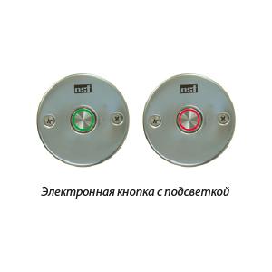 EL-кнопка OSF с двухцветной подсветкой и круглой рамкой (набор). Кнопка с кабелем 1,5 м и красно-зеленной подсветкой, с круглой рамкой для закладных от Hugo Lahme, класс защиты IP68. арт. 208.100.5152