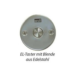 EL-кнопка OSF с круглой рамкой (пьезокнопка), нержавеющая cталь, кабель 1,5 м, IP-69 (Hugo Lahme) арт. 208.100.5150