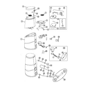 Корпус сливного клапана для автохлоратора HTH Easiflo 1 / 3 / 4 (поз. 6) арт. 79806