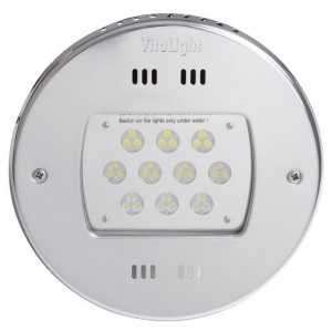 Светодиодный прожектор Hugo Lahme 30 LED 2,0, 24 В круглая рамка Ø270 мм из нержавеющей стали, кабель 2,5 м (теплый белый, 13200 люмен) арт. 40000420