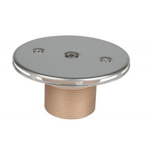 Форсунка донная впускная регулируемая Hugo Lahme с декоративной крышкой из нержавеющей стали, подключение 2′, бронза арт. 3864020