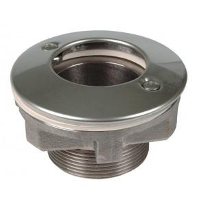 Форсунка подключения пылесоса Hugo Lahme 2' из нержавеющей стали AISI-316 под плёнку арт. 3945020