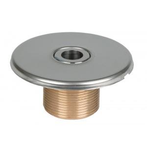 Форсунка Hugo Lahme с крышкой из нержавеющей стали, диаметр 18 мм, наружная резьба 1 1/2′, длина резьбы 40 мм, бронза, под плитку арт. 3100420