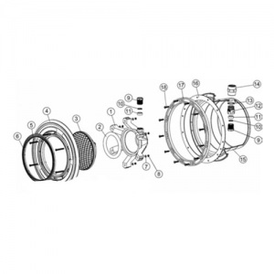 Гайка кабельного сальника прожектора IML B-001 / B-002 / B-002-L (поз. 9) арт. MP091021