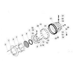 Винт А2 фланца для прожектора IML В-039