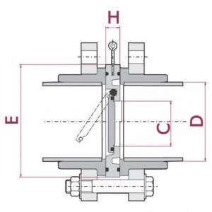 EPDM с установочным комплектом (фланцы