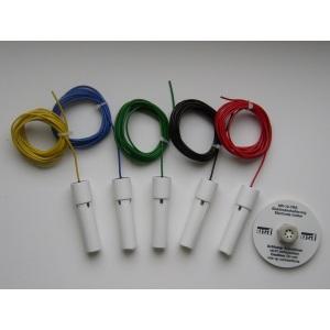 Комплект 5 электродов для блоков управления OSF NR-12-TRS-3 / NR-12-TRS-2, в комплекте с держателем и кабелями 3 м, V2A арт. 303.000.0012