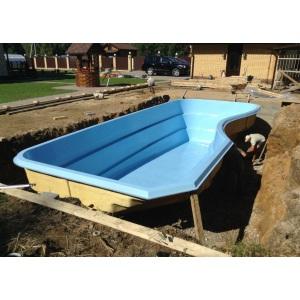 Композитный бассейн Composit Group Гранд, размеры 9,0 × 3,6 × 1,3-1,8 м, объём 40 м3 (линейка Премиум)