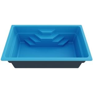 Композитный бассейн Composit Group Корсо, размеры 5,0 × 3,0 × 1,5 м, объём 18 м3 (линейка Эколайн)