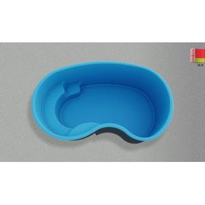 Композитный бассейн Composit Group Оптима, размеры 4,0 × 2,35 × 1,5 м, объём 9 м3 (линейка Премиум)