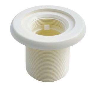 Корпус форсунки MTS Produkte, наружная резьба 2′, длина резьбы 70 мм, внутреннее подключение 50 мм, цвет белый