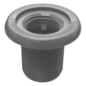 Корпус форсунки MTS Produkte, наружная резьба 2′, длина резьбы 70 мм, внутреннее подключение ВР 1 1/2′, цвет серый