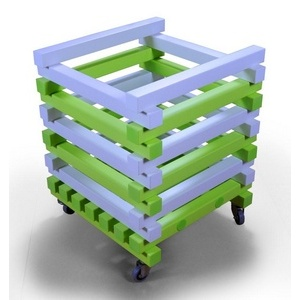 Корзина для детского инвентаря ПТК-Спорт, 570x570x600 мм (цвет: бело-зеленый) арт. 011-1573