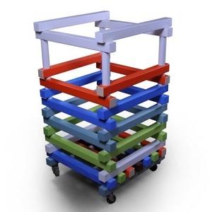 Корзина для хранения инвентаря ПТК-Спорт Нудл, 600х600х1000 мм (цвет: мульти) арт. 011-2386