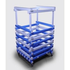 Корзина для хранения инвентаря ПТК-Спорт Нудл, 800х700х1350 мм (цвет: бело-синий) арт. 011-1536