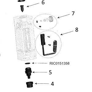 Датчик потока для амперометрической ячейки Seko Kontrol 800 арт. RIC0151161