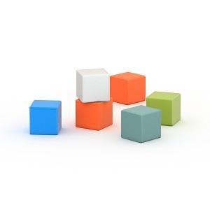 Кубики цветные ПТК Спорт