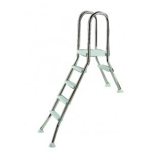 Частично заглубленная лестница Astralpool из нержавеющей стали + площадка. 3 ступени арт. 05523