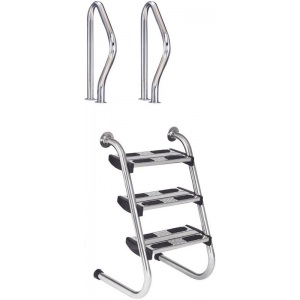 Лестница Flexinox 4 ступени Two Pieces Easy Access 316 сталь (87161022) арт. 87161022
