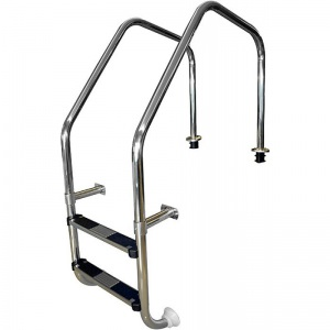 Лестница перелив. желоба 3 ступени с накладкой люкс, нержавеющая сталь AISI-304 Pool King /ML203/ арт. ML203
