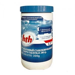 Хлор MAXITAB REGULAR 1,2 кг HTH, таблетки 200 гр.