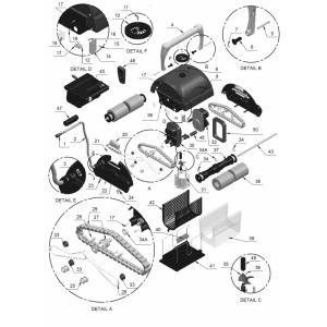 Молибденовый валик привода (изоляционный вкладыш) для пылесосов Aquatron (поз. 28) арт. 2613