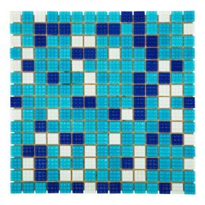 Мозаика стеклянная Aquaviva Bahama тёмная A20N(1)+A08N(2)+A07N(2)+C63N(5)