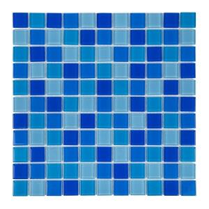 Мозаика стеклянная Aquaviva Cristall Jamaika светлый микс 425045