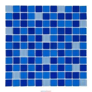 Мозаика стеклянная Aquaviva Cristall Jamaika тёмный микс 425001
