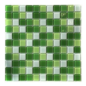 Мозаика стеклянная Aquaviva Cristall зелёная светлая DCM173 арт. DCM173