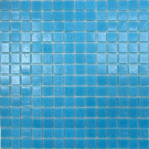 Мозаика стеклянная Aquaviva Jamaika однотонная голубая A08N(2) арт. A08N(2)