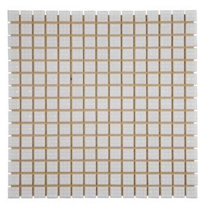 Мозаика стеклянная Aquaviva матовая белая А20N(1)
