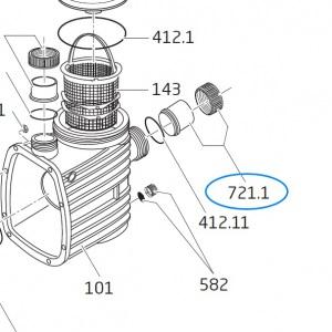 Всасывающий патрубок для насосов Speck Badu 21-41 / 47, d=63 мм арт. 292.1472.100