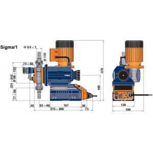 Насосы дозирования соленоидные ProMinent Sigma 1 07065, 7 бар – 65 л/ч, нержавеющая сталь (без удаления воздуха), с оптическим индикатором прорыва / S1CBH07065SST0000S00 арт. S1CBH07065SSTS000UA000S00